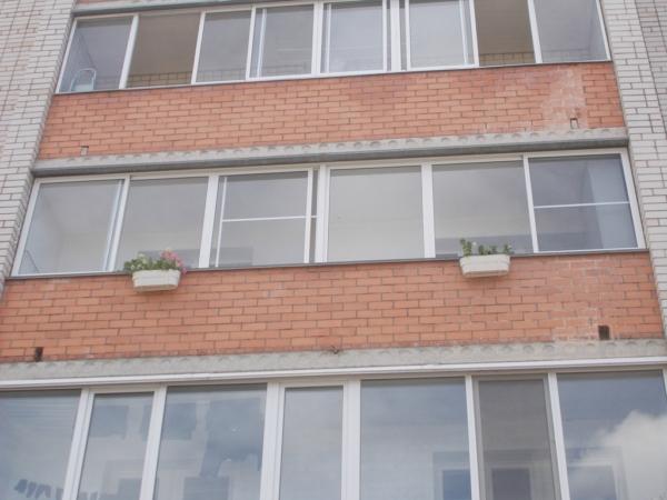 Проект балкона с применением алюминиевого профиля