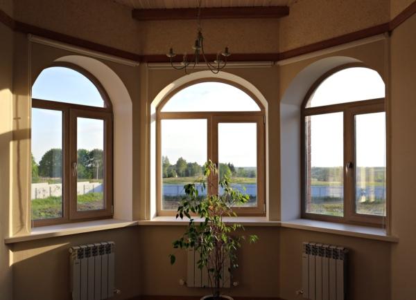 Арочное окно - установка окон, вставить окна, монтаж окон
