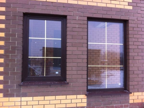 Окно с золотой раскладкой - крепления окон, монтажное окно, как установить окна видео