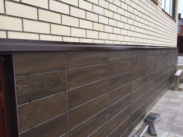 Вентилируемый фасад (материал: керамогранит)